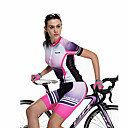 cheap Cycling Jersey & Shorts / Pants Sets-SANTIC Women's Short Sleeve Cycling Jersey with Shorts - Purple Pink Gradient Bike Shorts Jersey Clothing Suit Breathable Quick Dry Sports Polyester Gradient Mountain Bike MTB Road Bike Cycling