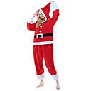 preiswerte Kigurumi Pyjamas-Erwachsene Weihnachtsmann Pyjamas-Einteiler Polar-Fleece Rot Cosplay Für Herren und Damen Tiernachtwäsche Karikatur Fest / Feiertage Kostüme
