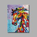 abordables Cuadros de Animales-Pintada a mano Pop Art Vertical, Modern Lona Pintura al óleo pintada a colgar Decoración hogareña Un Panel