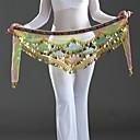 رخيصةأون اكسسوارات الرقص-Dance Accessories إشاربات الرقص الشرقي للمرأة أداء كريب شىء صغير براق ارتفاع منخفض حزام البطن شال الورك للرقص / رقص شرقي