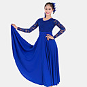 cheap Ballroom Dance Wear-Ballroom Dance Dresses Women's Performance Lace / Milk Fiber Lace Long Sleeve High Dress