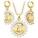preiswerte Modische Halsketten-Kristall Synthetischer Diamant Schmuck-Set - Krystall, Strass, vergoldet Modisch Einschließen Halskette / Ohrringe Gold Für Hochzeit Party Alltag / Halsketten
