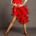 cheap Latin Dancewear-Latin Dance Tutus & Skirts Women's Performance Viscose Draping Sleeveless Natural Skirt