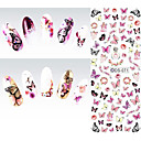 cheap Nail Stickers-1 pcs Water Transfer Sticker nail art Manicure Pedicure Fashion Daily
