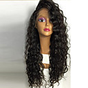 cheap Vanity Lights-Human Hair Full Lace Wig Water Wave Wig Natural Hairline / African American Wig / 100% Hand Tied Women's Short / Medium Length / Long Human Hair Lace Wig