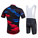 cheap Cycling Jersey & Shorts / Pants Sets-Fastcute Men's Short Sleeve Cycling Jersey with Bib Shorts Black Plus Size Bike Bib Shorts Jersey Bib Tights Breathable 3D Pad Quick Dry Sweat-wicking Sports Polyester Lycra Sports Mountain Bike MTB