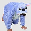 halpa Kigurumi-pyjamat-Kigurumi-pyjama Sininen hirviö Pyjamahaalarit Asu Polar Fleece Sininen Cosplay varten Lasten Animal Sleepwear Sarjakuva Halloween