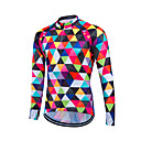 cheap Sports Bag, Belt Bag, Waist Bag-21Grams Men's Women's Unisex Long Sleeve Cycling Jersey Plaid Argyle Bike Sweatshirt Jersey Top, Quick Dry Front Zipper Breathable, Spring Summer Fall, Coolmax® 100% Polyester / Stretchy / SBS Zipper