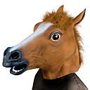 billige Høytidsmasker-Hestehode Haloween-masker Halloween Utstyr Skummel Morsom Hestehode Kostume Horrortema Gummi Fun & Whimsical Kostymefest Deler Voksne Gutt Jente Leketøy Gave
