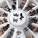 cheap Nail Jewelry-1 pcs Nail Jewelry / Metallic / 3D Flake Simple / Metal Finish Nail Art Design / Alloy