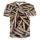 billige Militærklokke-Tynn T-skjorte Herre Trykt mønster Sport / Kortermet