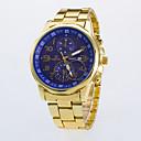 abordables Relojes de Vestir-Hombre Reloj de Pulsera Cuarzo Reloj Casual / Rosa Oro Plateado Aleación Banda Analógico Casual Reloj de Vestir Dorado - Negro Azul