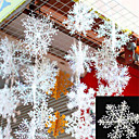 billige Pathway Lights-30pcs christmas snow flakes hvite snøfnugg ornamenter ferie juletre decortion festival fest