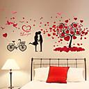 billige Vægklistermærker-Sille Liv Romantik Botanisk Vægklistermærker Fly vægklistermærker 3D mur klistermærker Dekorative Mur Klistermærker, Vinyl Hjem Dekoration