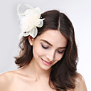 cheap Birthday Home Decorations-Tulle / Feather / Net Fascinators / Headwear with Floral 1pc Wedding / Special Occasion Headpiece
