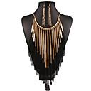 abordables Juego de Joyas-Mujer Conjunto de joyas - Borla, Vintage, Europeo Incluir Collar / pendientes Dorado Para Boda / Fiesta / Diario / Pendientes / Collare