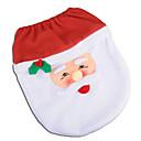 baratos Decorações de Festas-Papai Noel boneco de neve espírito espírito tampa do assento tapete de banho conjunto com toalha de papel capa para o presente de natal ano novo casa decorações