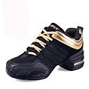 baratos Tênis de Dança-Mulheres Tênis de Dança / Sapatos de Dança Moderna Couro / Tecido Têni Cadarço Sem Salto Não Personalizável Sapatos de Dança Preto /