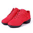 olcso Cookie Tools-Női Tánccipők Szintetikus Sportcipő Lapos Szabványos méret Dance Shoes Fekete / Piros / Gyakorlat