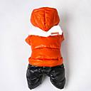billige Hundeklær-Kat Hund Frakker Drakter Hettegensere Hundeklær Fargeblokk Oransje Rose Rød Grønn Blå Bomull Kostume For kjæledyr Herre Dame Vindtett