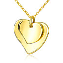 preiswerte Schmuck Sets-Damen Anhängerketten - vergoldet Herz, Liebe Modisch Gelb Modische Halsketten Für Hochzeit, Party, Alltag