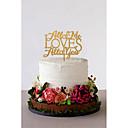 preiswerte Tortenfiguren & Dekoration-Tortenfiguren & Dekoration Klassisch Klassisches Paar Acryl Hochzeit mit Blume 1 pcs Geschenkbox