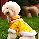 abordables Ropa para Perro-Gato Perro Abrigos Sudadera Ropa para Perro Bordado Amarillo Rojo Lana Polar Algodón Disfraz Para mascotas Hombre Mujer Moda Año Nuevo