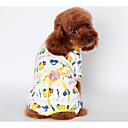 preiswerte Hundekleidung-Hund Austattungen Pyjamas Hundekleidung Blume Gelb Blau Rosa Baumwolle Kostüm Für Haustiere Herrn warm halten
