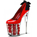 cheap Cycling Pants, Shorts, Tights-Women's Shoes Patent Leather Spring / Summer Heels Stiletto Heel / Crystal Heel Bowknot White / Red / Wedding / Party & Evening / Dress