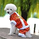 voordelige Hondenkleding-Hond Jassen Jumpsuits Hondenkleding Geborduurd Geel Rood Blauw Fleece Katoen Kostuum Voor huisdieren Heren Dames Vakantie Modieus