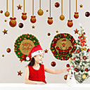 cheap Christmas Home Textiles-DIY Merry Christmas Wall Stickers Decoration Santa Claus Wall Stickers Removable Vinyl Wall Decals Xmas