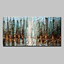 abordables Óleos-Pintura al óleo pintada a colgar Pintada a mano - Abstracto Modern Lona