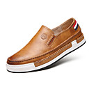cheap Men's Slip-ons & Loafers-Men's Comfort Loafers Faux Leather Spring / Fall Comfort / British Loafers & Slip-Ons Walking Shoes Gray / Yellow / Brown