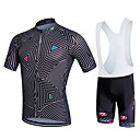 cheap Cycling Jersey & Shorts / Pants Sets-Fastcute Men's Short Sleeve Cycling Jersey with Bib Shorts Stripes Plus Size Bike Bib Shorts Jersey Bib Tights Breathable 3D Pad Quick Dry Sweat-wicking Sports Polyester Lycra Stripes Mountain Bike