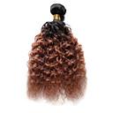 abordables Extensiones de Color Degradé-1 paquete Cabello Hindú Ondulado Medio Cabello humano Ombre Cabello humano teje Extensiones de cabello humano