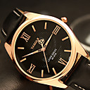 cheap Men's Watches-YAZOLE Men's Wrist Watch Quartz Casual Watch Cool / PU Band Analog Casual Fashion Black / Brown - Black Brown One Year Battery Life / SSUO 377