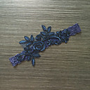 billige Bryllupsstrømpebånd-Blondelukning Stræksatin Klassisk Mode Bryllup Garter  -  Blomst Strømpebånd
