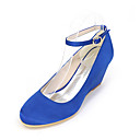 cheap Women's Heels-Women's Shoes Silk Spring / Summer Comfort Heels Wedge Heel Golden / Champagne / Ivory / Wedding / Party & Evening / Wedge Heels