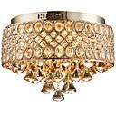 billige Taklamper-4-Light Takplafond Omgivelseslys Gylden Metall Krystall, designere 110-120V / 220-240V Pære ikke Inkludert / E12 / E14