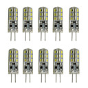 abordables Juguetes y Figuras de acción-10pcs 1W 200lm G4 Luces LED de Doble Pin Tubo 24 Cuentas LED SMD 3014 Decorativa Blanco Cálido Blanco Fresco 12V