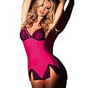 baratos Camisolas e Pijamas Femininos-Mulheres Sexy Conjunto Roupa de Noite - Renda, Estampa Colorida