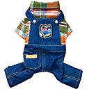 voordelige Hondenkleding-Hond Jumpsuits / Denim jacks Hondenkleding Jeans Oranje / Roos Katoen Kostuum Voor huisdieren Heren / Dames Cowboy / Modieus