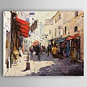 cheap Oil Paintings-Oil Painting Hand Painted - Landscape Modern Canvas / Stretched Canvas
