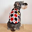 preiswerte Netzwerk Adapter-Katze / Hund T-shirt Hundekleidung Plaid / Karomuster Grau / Gelb / Rot Flanell Kostüm Für Haustiere Herrn / Damen Lässig / Alltäglich / Modisch