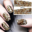 cheap Earrings-fashion printing pattern water transfer printing leopard print nail stickers
