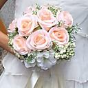 preiswerte Parykopfbedeckungen-Hochzeitsblumen Sträuße Hochzeit Party / Abend Satin 25 cm ca.