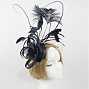 cheap Party Headpieces-Tulle / Lace / Feather Headbands / Fascinators 1 Wedding / Special Occasion / Outdoor Headpiece