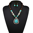 cheap Bag Sets-Women's Jewelry Set - Statement, Vintage, European Include Necklace / Earrings Blue For Wedding Party Daily