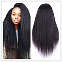 cheap Human Hair Weaves-Unprocessed Human Hair Glueless Lace Front Wig Brazilian Hair kinky Straight Yaki Wig 130% Hair Density Natural Hairline African American Wig Women's Long Human Hair Lace Wig