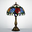 hesapli Masa Lambaları-Tiffany Geleneksel/Klasik Yay Sıra Lambaları Uyumluluk 110-120V 220-240V Reçine